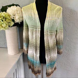 💐NIC + ZOE💐 Knitted Bohemian Cardigan Large